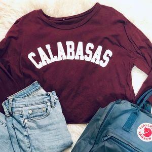 Tops - CALABASAS Cropped Long sleeve T-Shirt